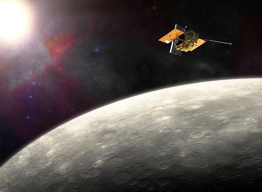 La nave espacial MESSENGER ha estado en órbita alrededor de Mercury desde marzo de 2011. Crédito de imagen: NASA / JHU APL / Carnegie Institution of Washington