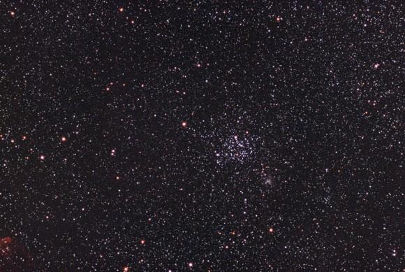The open star clusters Messier 35 and NGC 2158, photographed at La Palma, Roque de los Muchachos (Degollada de los Franceses). Credit: estelar.de/Oliver Stein