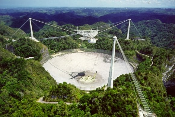 The NSF's Arecibo Observatory, which is located in Puerto Rico, is the world largest radio telescope. Credit: NAIC