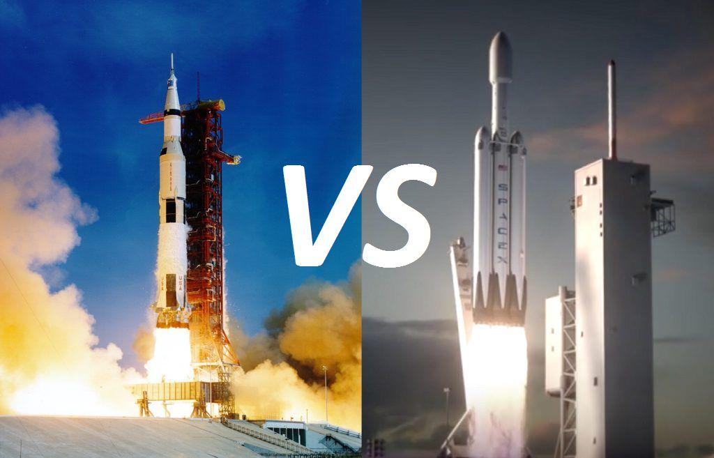real rocket ship diagram led lighting wiring falcon heavy vs saturn v universe today
