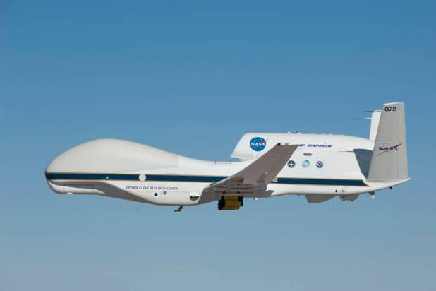 The study looked at current aircraft like NASA's Global Hawk. It can carry large loads to high altitudes for 24 hours. However, like any other existing aircraft, the Global Hawk cannot meet the requirements of SAIL. Image Credit: NASA Photo / Tom MIller