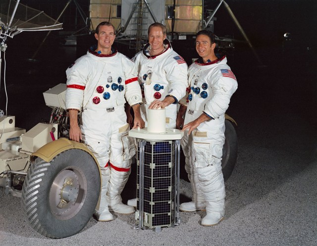 It's not unusual for satellites or spacecraft to release sub-satellites. All the way back in 1971, the Apollo 15 crew released a sub-satellite in orbit around the Moon. Image Credit: NASA