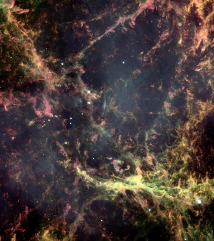 Hubble image of the center of the Crab Nebula