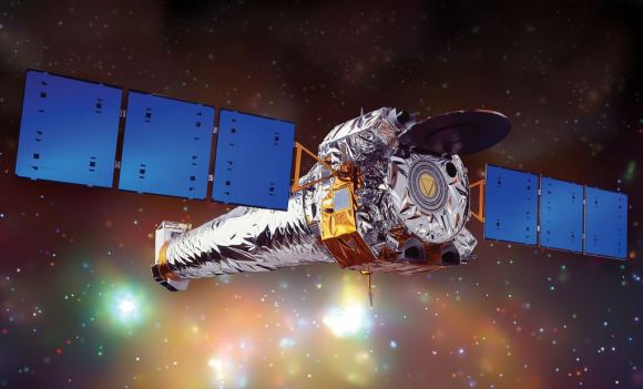 Artist's concept art of Chandra, the most powerful X-ray telescope ever.