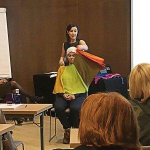 Juego de capas cromáticas para asesoría de imagen y peluquería ejemplo de uso