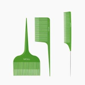 Kit de peines para trabajos de mechas balayage en peluquería
