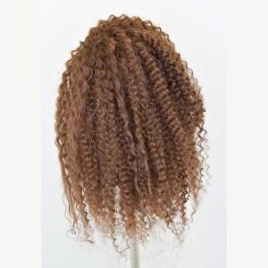 Maniquí de cabello rizado para prácticas y cursos de peluquería