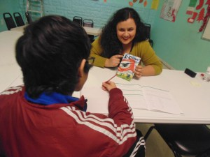 Ana Karen tutored Little Village youth with their homework--spanning topics from history to culture and mathematics.