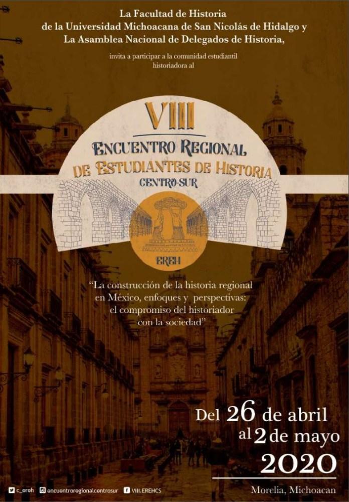 Convocatoria al VII Encuentro Regional Centro Sur de Estudiantes de Historia