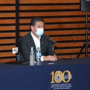 Dr. Raúl Cárdenas Navarro, Rector de la Universidad Michoacana de San Nicolás de Hidalgo