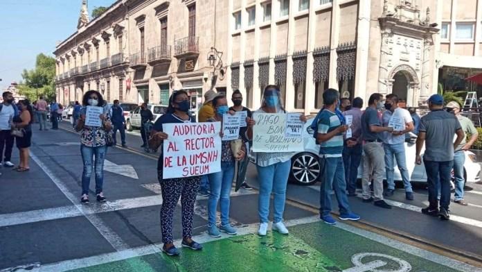 Las protestas del SUEUM, en las calles, alejadas de los tribunales laborales.
