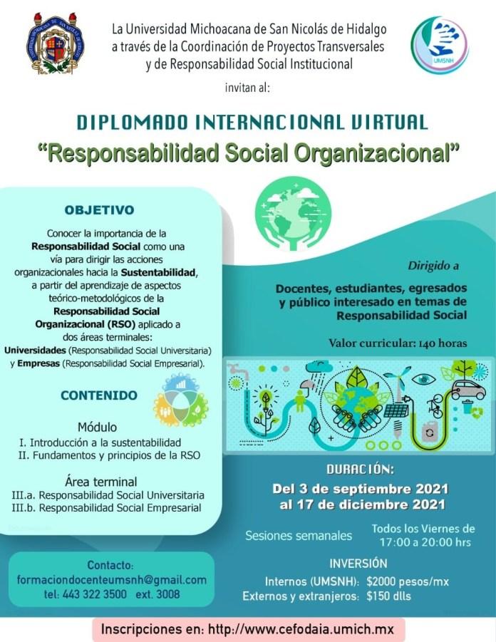 Diplomado Internacional en Responsabilidad Social Organizacional
