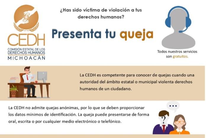 Comisión Estatal de los Derechos Humanos de Michoacán / https://cedhmichoacan.org/