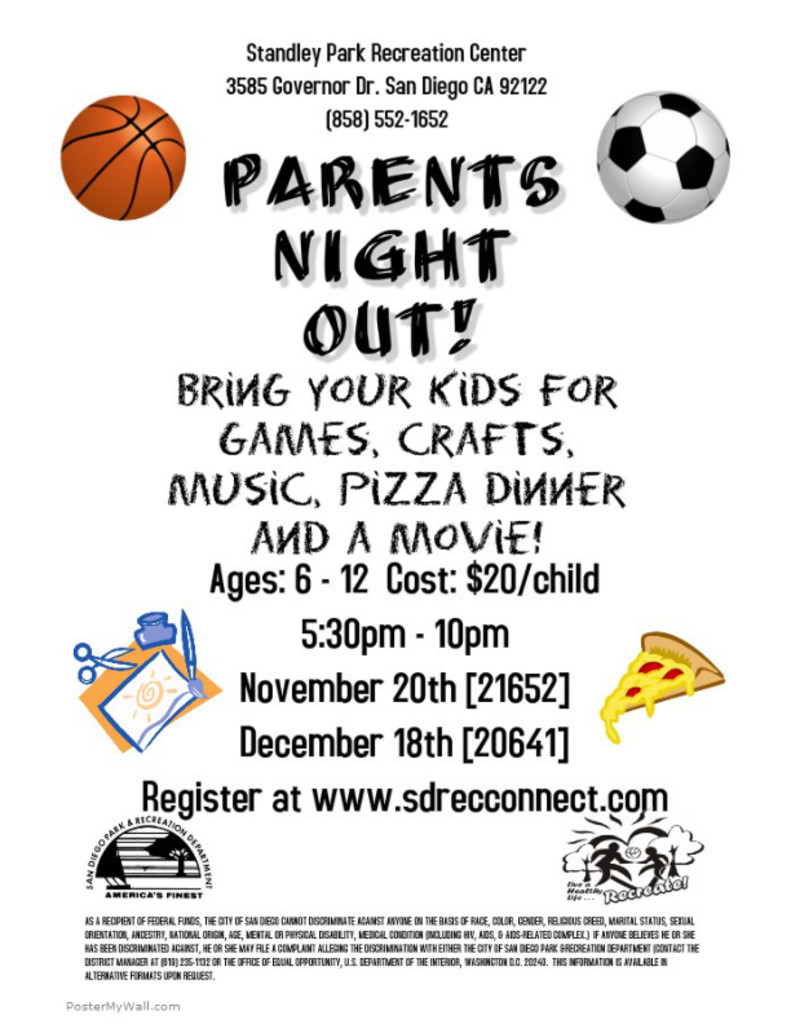 Standley Recreation Center: Parents Night Out