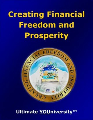 Creating Financial Freedom and Prosperity