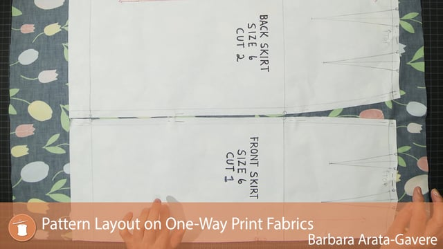 Pattern Layout On One Way Print Fabrics