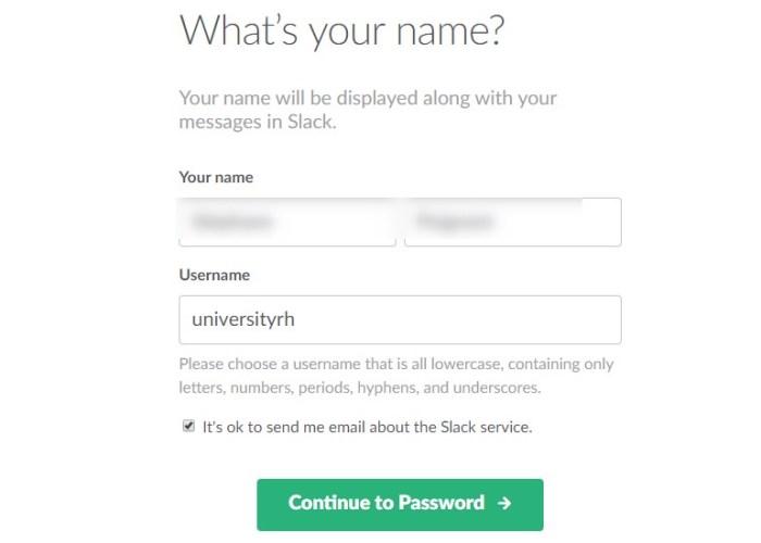slack-votre profil administrateur