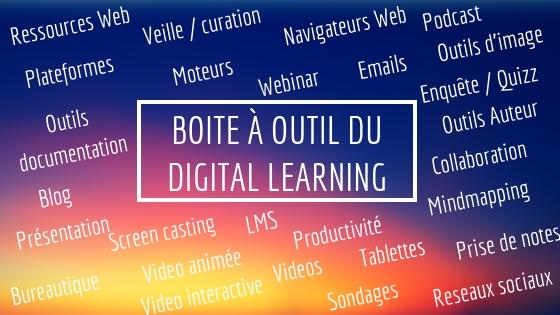 Boite à outil du digital learning