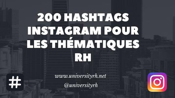 200 hashtags Instagram pour les thématiques RH