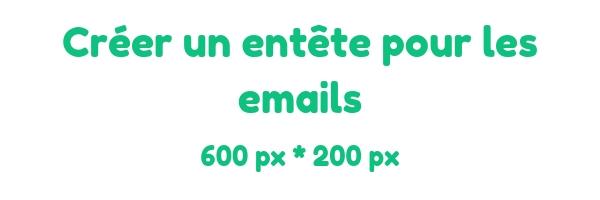 Créer un entête pour les emails