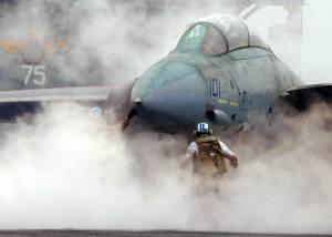 Práctica de interceptación en el F-14 Tomcat