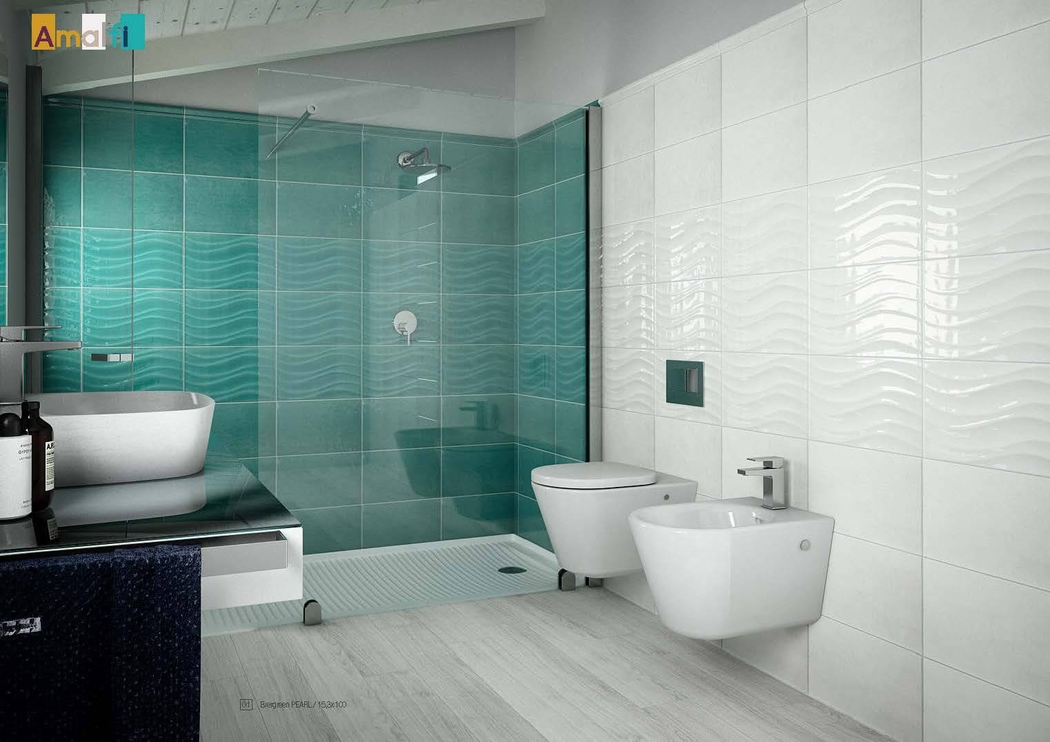 Idea Ceramica serie Amalfi Onda Acqua 2540 AM210