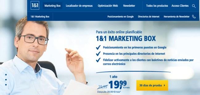 1and1 marketing box