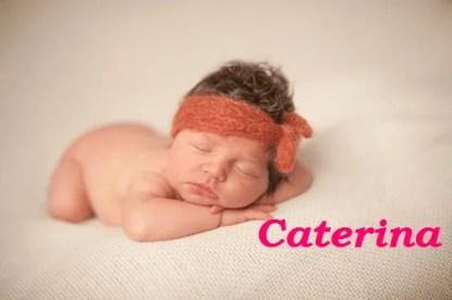 Caterina dorme serena