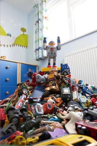 riorganizzare i giocattoli