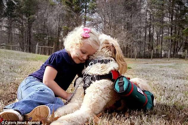 bimba e cane giocano