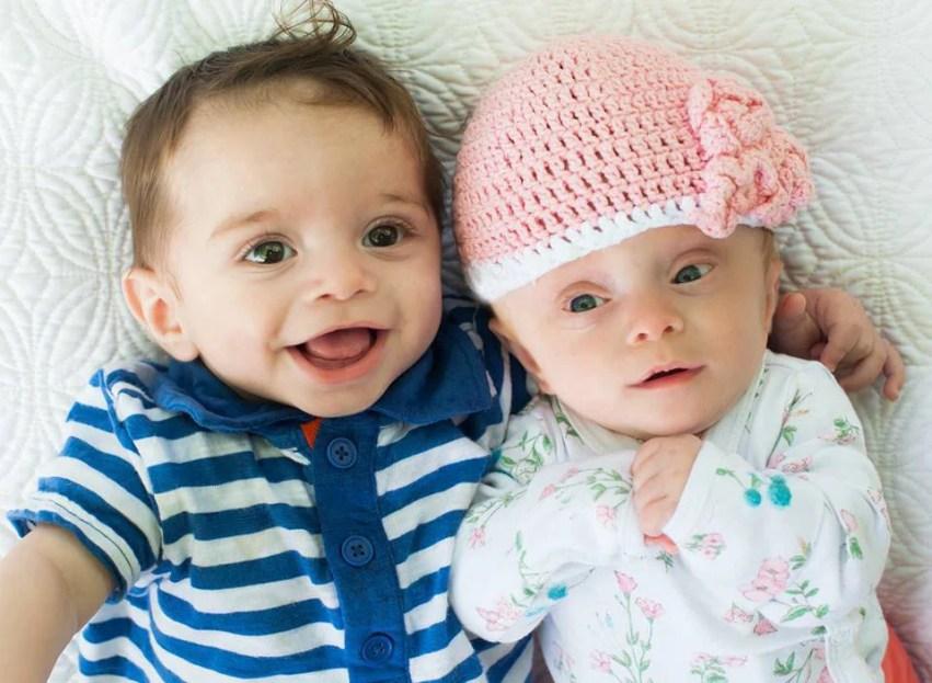 Sam e Ava a 5 mesi