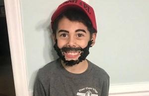 il costume di Halloween di un bambino