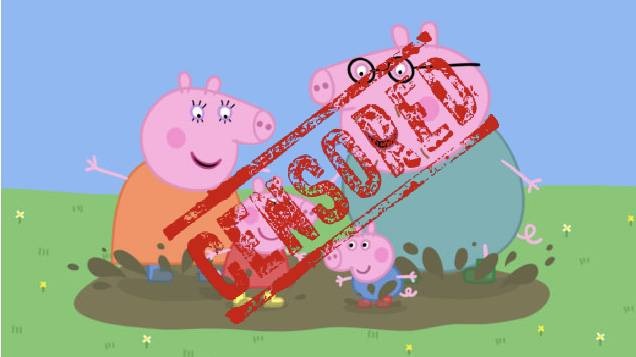 Peppa Pig censurata