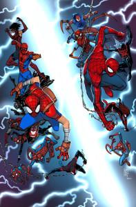 Portada de Spider-Verse 1, realizada por Giuseppe Camuncoli.
