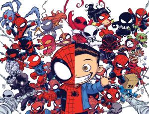 Portada de Spider-Verse 1, realizada por  Skottie Young.