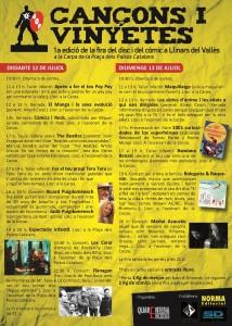 Porgrama de actividades del fin de semana (en catalán)