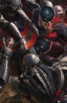 El Capitán América en una imagen promocional de Los Vengadores: La era de Ultrón