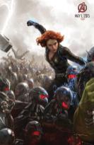 La Viuda Negra en una imagen promocional de Los Vengadores: La era de Ultrón