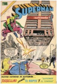"""¡¿¡Cómo que SuperNIÑA..!?! El """"sex appeal"""" de la heroína de Krypton es más que evidente en esta portada clásica de Novaro."""