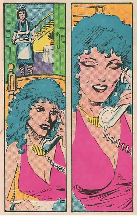 En su fase inicial, se comentó que el propio Layton se encargaría también de dibujar y entintar la obra. Esta es su versión de la seductora Carla DelVeccio, tal como aparecía en la revista Marvel Age. ¿Verdad que tiene un aire a lo Mary Jane, con algún añito más?