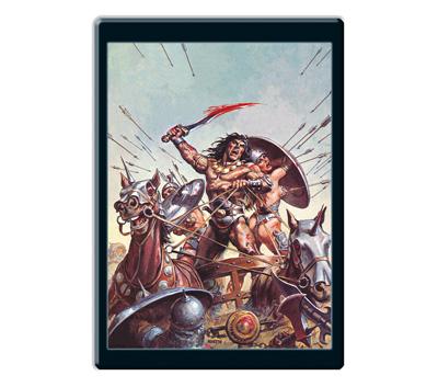 Con tu 5º envío Placa metálica que reproduce  una imagen original del mítico cómic de Conan.  Dimensiones: 28 x 42 cm - See more at: http://www.planetadeagostini.es/cultural/espada-salvaje-conan#sthash.MFBs7beb.dpuf