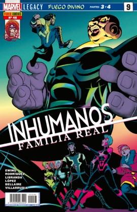 Inhumanos: Familia Real 9. Marvel Legacy. Fuego divino Partes 3 y 4 (Panini)