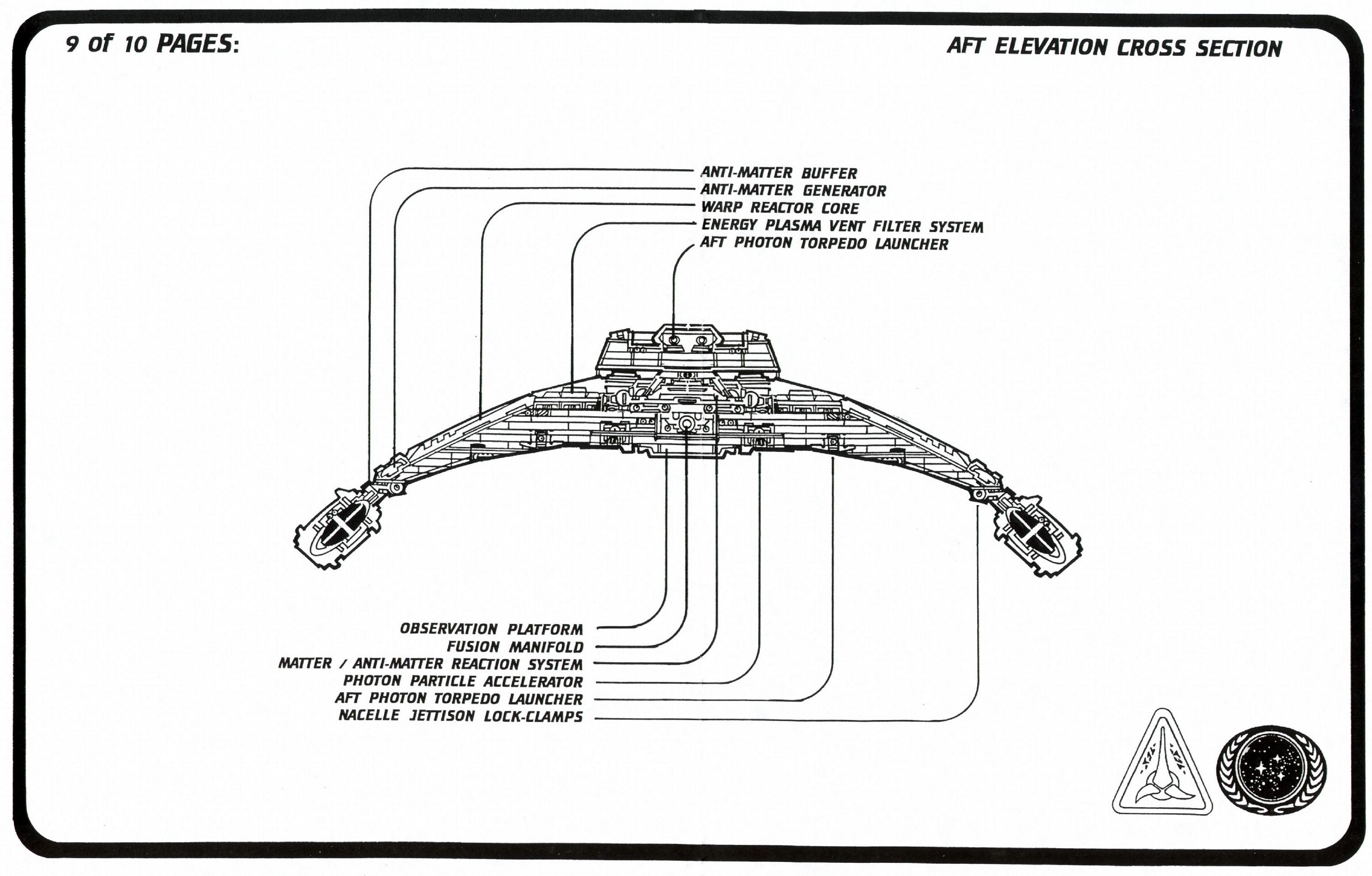 Star Trek Klingon Vor Cha Class Cruiser Schematics