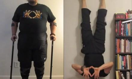 Vídeo – Homem perde 45 kg e volta a andar em 10 meses praticando Yoga!