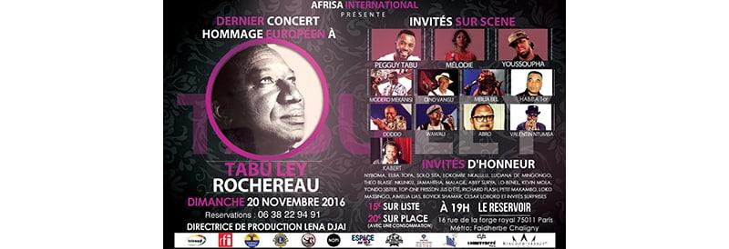 Protégé: Dernier concert hommage europeen a Tabu Ley Rochereau