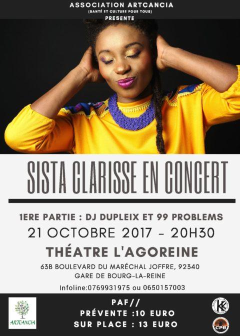 Sista Clarisse en concert