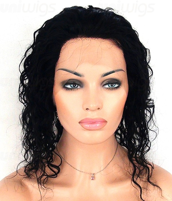 12 Cena Wet Wavy Lace Front Wig Long Remy Human Hair Wig