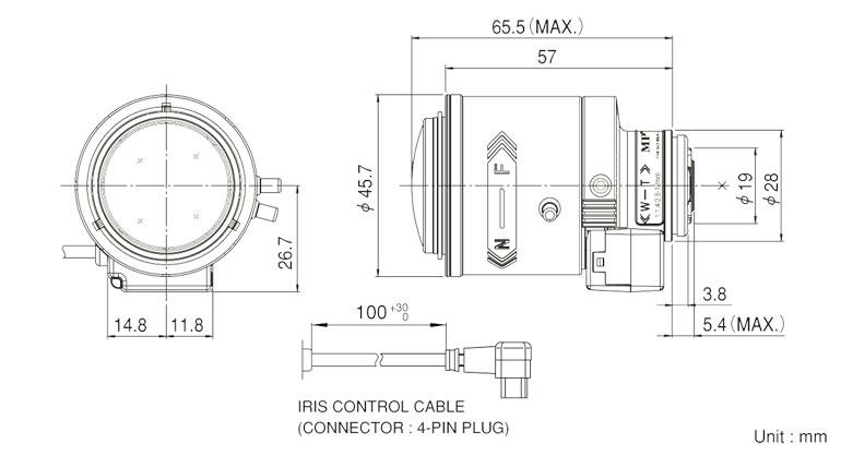 Mega Pixel 2.8~12mm Vari-Focal Lens