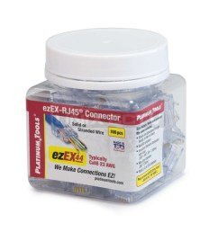 platinum tools 202044j ezex 44 ezex rj45 cat6 connector 100 jar [ 1600 x 1600 Pixel ]