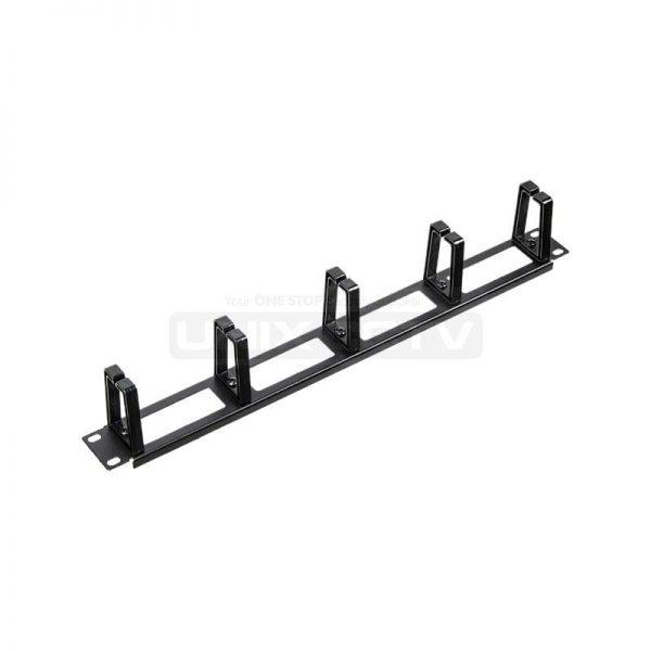 19″ 1U Standard Metal Rack Mount Plastic Ring Cable